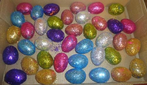 Glitter Eggs - Round One.