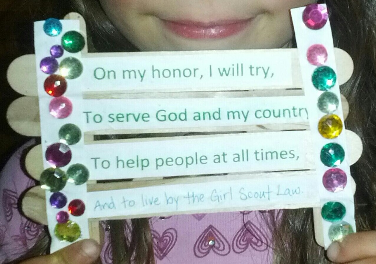 girl scout law craft ideas brownie scout way badge plant plant electro what 6635