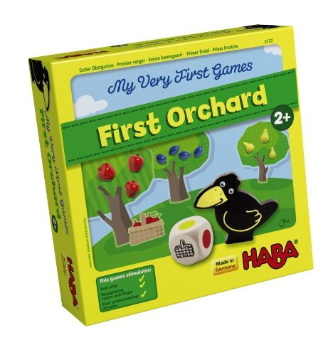 "This and other Haba ""My Very First Game"" series are appropriate for a 2-yr old. It's cooperative in that you have to pick all of the fruit before the crow enters the orchard. It is out of stock at the moment."