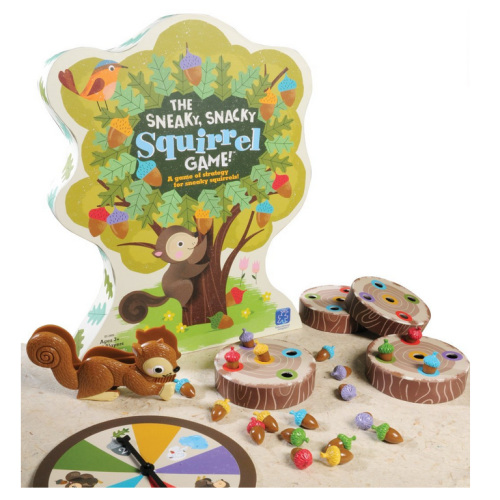 You need to fill your stump up with the color-corresponding acorns before the other players. A spinner determines what you do during your turn. It is possible to lose all of your acorns, so keep that in mind if you have a sensitive child.