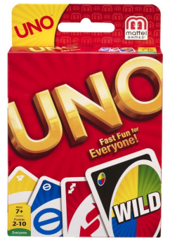 I'm not linking this because you can find Uno anywhere. Even though it says ages 7 and up, it's easy to simplify it by taking out some of the cards.