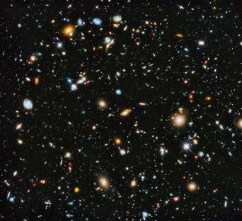 "I showed the girls this image from the Wikipedia entry for ""Galaxy"" to show them how vast the night sky really is."