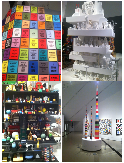 A visit to the Royal Ontario Museum (photos are from the Coupland exhibit).